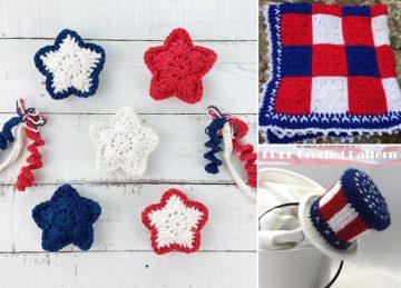 4th of July Crochet Decor Ideas