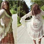 Lotus Mandala Duster Crochet Jacket [FREE]