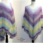 Mesh Over Brook Crochet Poncho [FREE]