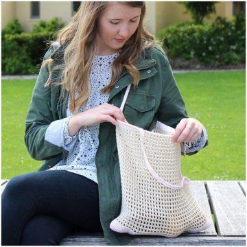 Springtime Market Bag free easy crochet pattern