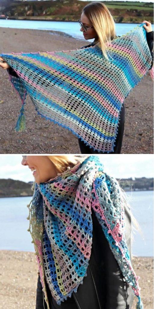 Beginner Triangle Crochet Shawl