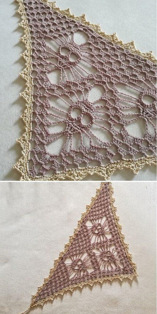 Skull shawl beige