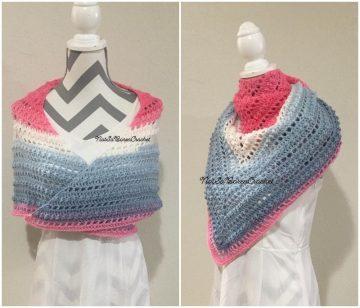 Neck Torso Shawl crochet Wrap with free pattern for spring season
