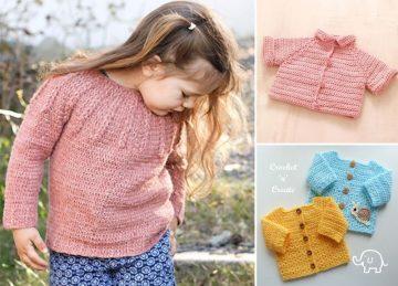 Cute Crochet Baby Sweaters