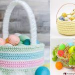 Cute Crochet Easter Baskets