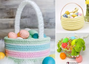 Cute Easter Crochet Baskets