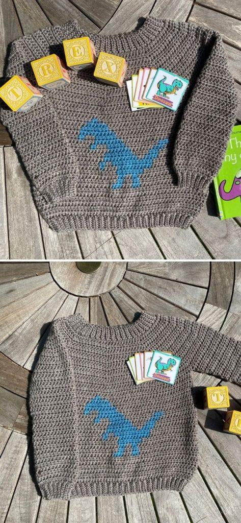 Terrific T-Rex Kids Unisex Sweater