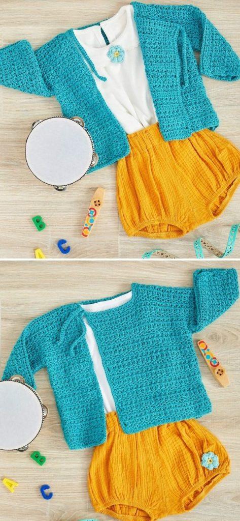 Marina Crochet Baby Cardi