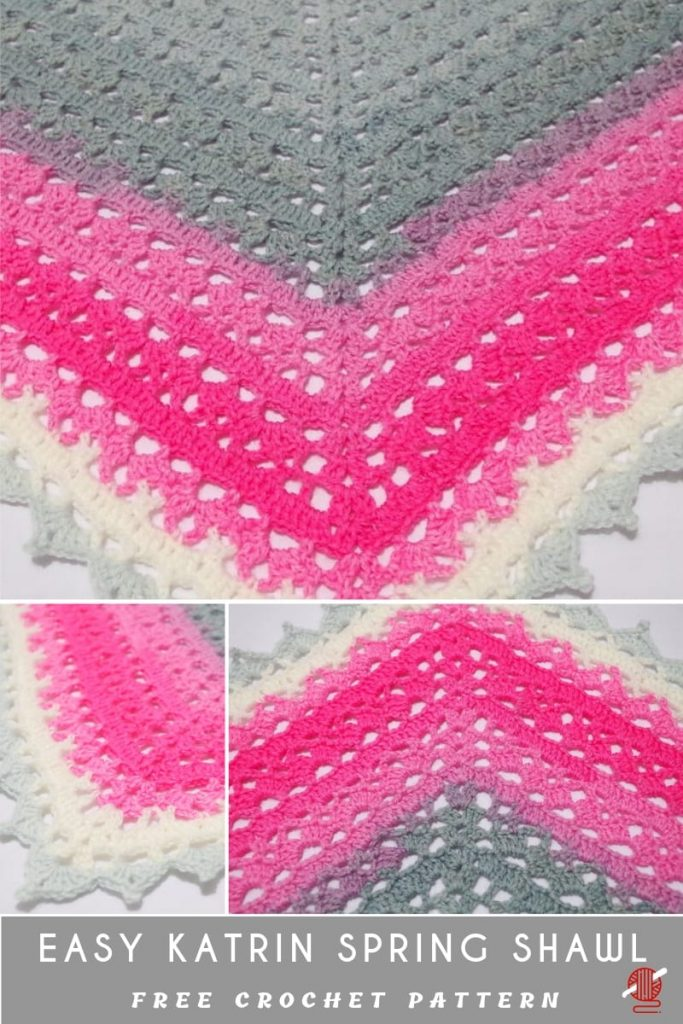Easy and Fun Way to Learn Crochet Katrin Spring Shawl