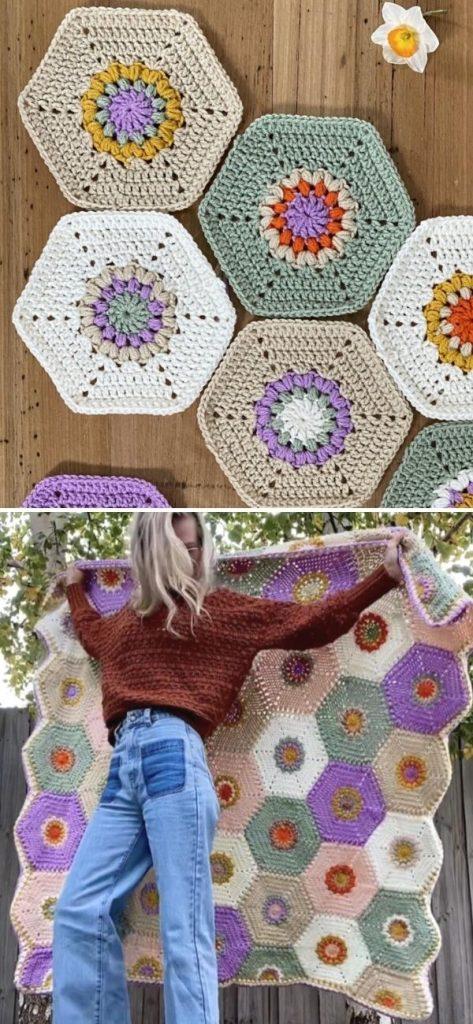 Golden Hexagon Blanket