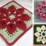 Amazing Flowery Afghan Blocks