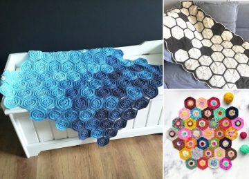 Beautiful Crochet Hexagon Blankets