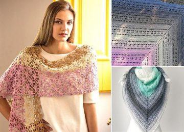 Beautiful Feminine Lacy Crochet Shawls