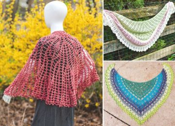 Beautiful Spring Shawls Free Crochet Pattern
