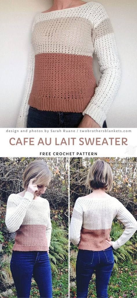 Cafe Au Lait Sweater Free Pattern