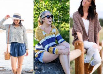 Colorful Feminine Crochet Sweaters