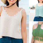 Feminine Comfy Crochet Tops