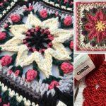 Gorgeous Colorful Crochet Square Floral Block