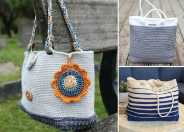 Gorgeous Fun Crochet Beach Bags