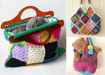 Granny Stitch Bags With Free Patterns-Featured