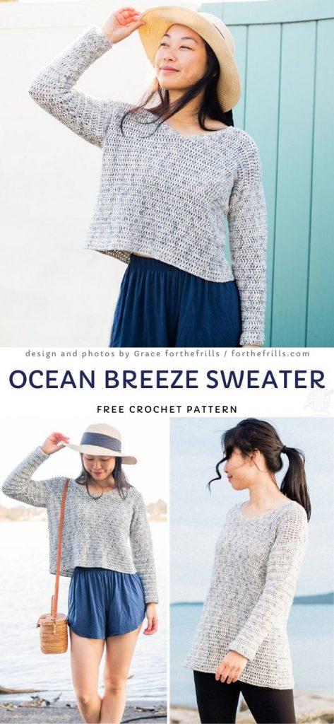 Ocean Breeze Sweater Free Pattern