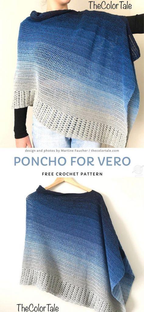 Poncho for Vero Free Crochet Pattern