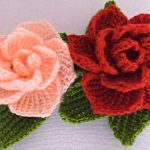 Roses in 3D Free Crochet Pattern