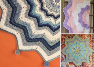 Star Shaped Crochet Blankets Ideas
