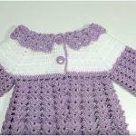 Little Baby Crochet Sweater Dress Free Pattern