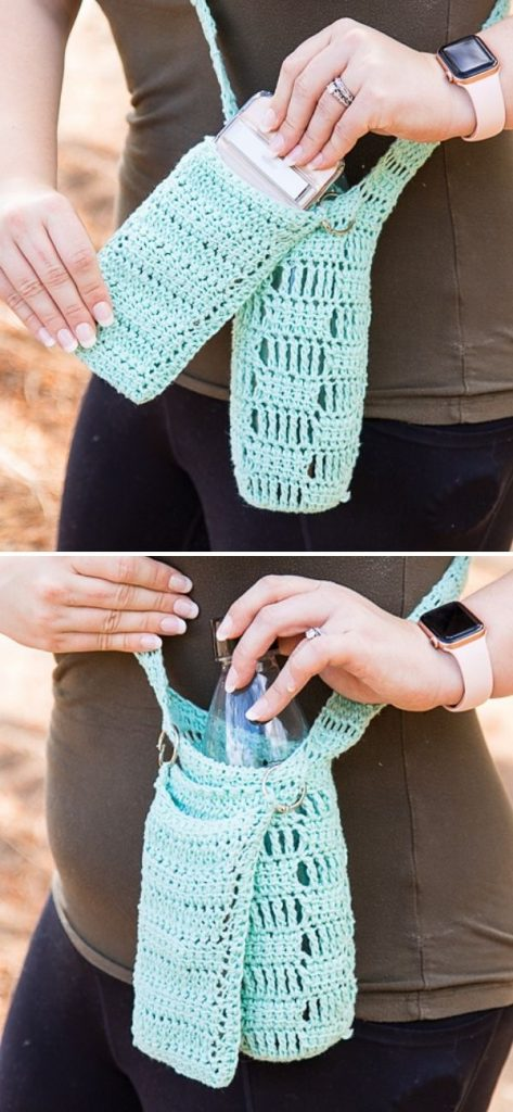 4Water Bottle Holder with Phone Pocket
