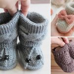 Adorable Knitted Booties for Babies