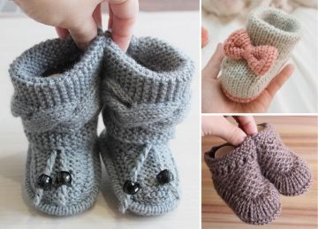 Adorable Knitted Booties for Babies Free Patterns