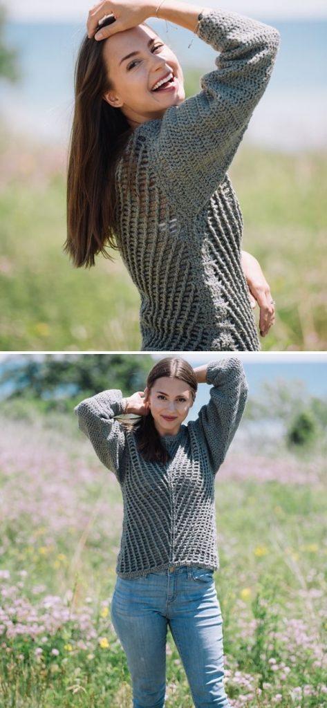Raegan Mesh Sweater