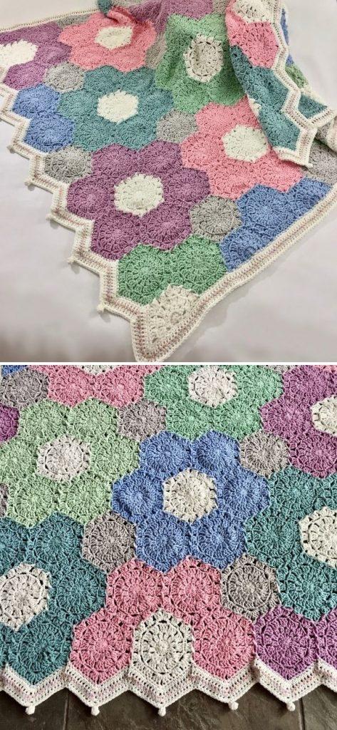 Flower Garden Crib Blanket