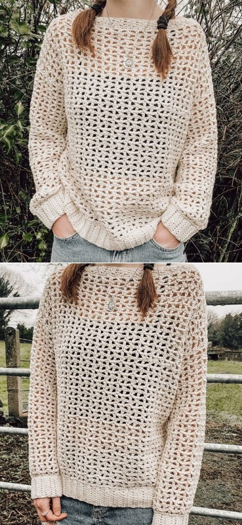 Spring Mesh Sweater