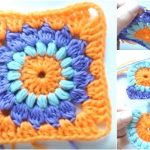 Easy Flower Square Free Crochet Pattern