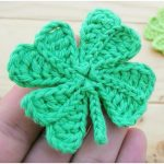Easy Four-Leaf Clover Crochet Free Pattern for Beginners