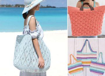 beautiful crochet summer bags