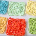 Flower Shape Square Free Crochet Pattern + Tutorial