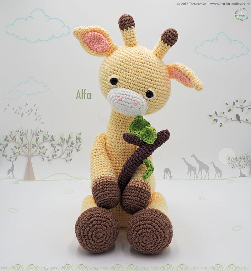 Giraffe Alfa Amigurumi Free Crochet Pattern