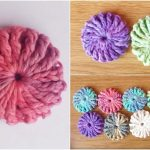 Easy Puff Crochet Flower for Beginners Free Pattern and Tutorial