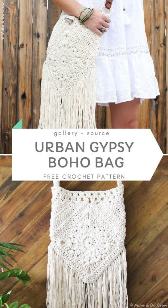 Urban Gypsy Boho Bag Free Crochet Pattern