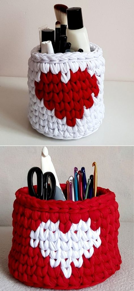 Basket with a heart