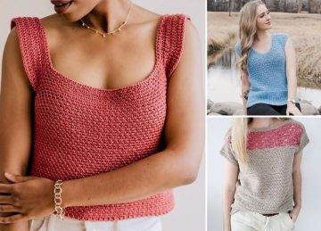Loose And Comfortable Crochet Tops