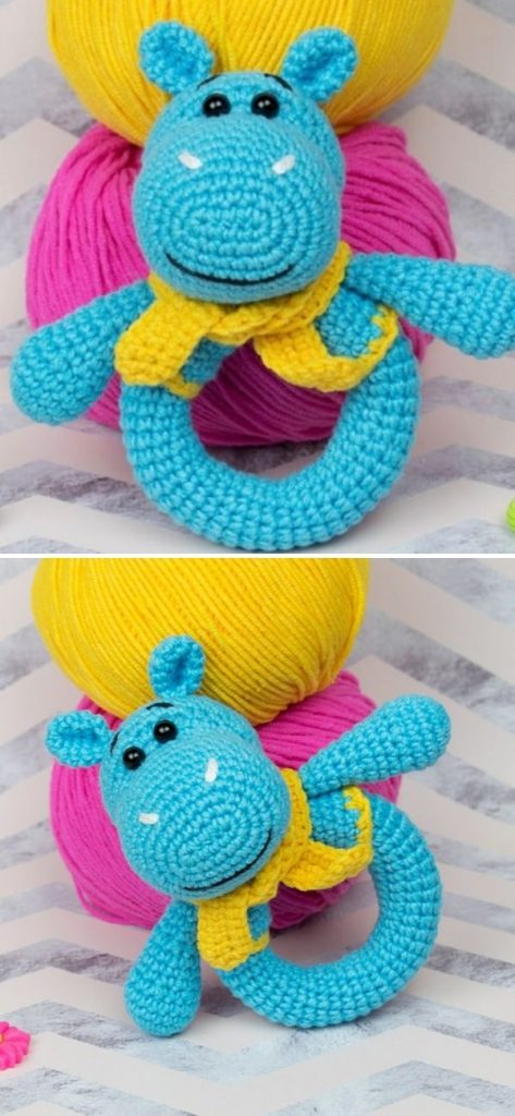 Hippo Baby Rattle