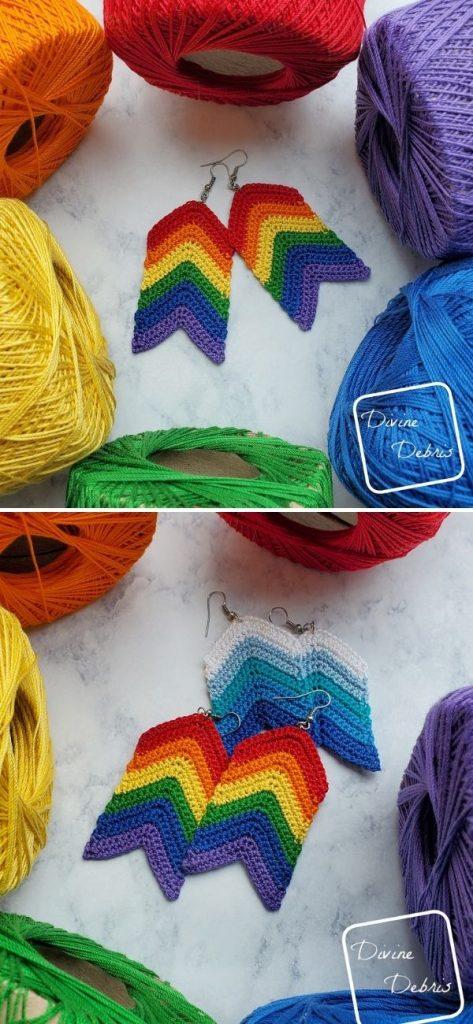 Rainbow Arrow Earrings