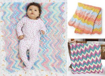 Cool Crochet zig-zag blankets