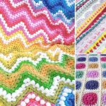 Vibrant Floral Crochet Blankets