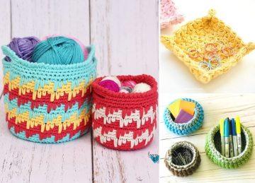 Crochet Handy Stash Baskets