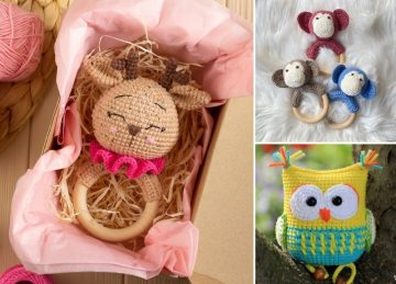 Cute Crochet Baby Rattles